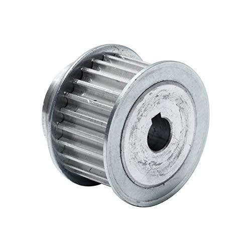 Shuxiang-Polea de correa de distribución, Polea de tiempo de HTD5M 25T con la polea de la correa de ancho de la correa de 21 mm de la llavera, 8 / 10/12/12/19mm Bore, polea de transmisión de aleación