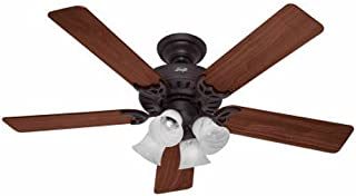 Hunter Indoor Ceiling Fan, with pull chain control - Studio Series 52 inch, New Bronze, 53067