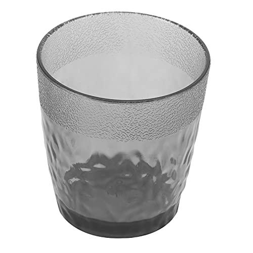 SALUTUY Tazas Transparentes, Taza de té de Flor con Forma de Gota esmerilada, acrílico Transparente Reutilizable para té, Vino, café para Cocina casera(Gris)