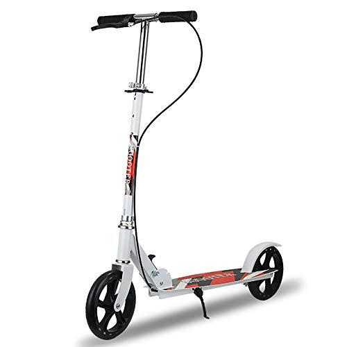 LIYANJJ Bicicleta de Equilibrio, Plataforma de aleación para Scooter de Rueda Grande con Ruedas de Alto Impacto.