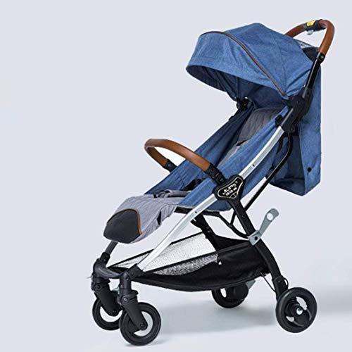 Xiaotian Baby-Kinderwagen kann Liegeultraleichte tragbare Klapp Baby Vierrad Kinder Kinderwagen sitzen,C
