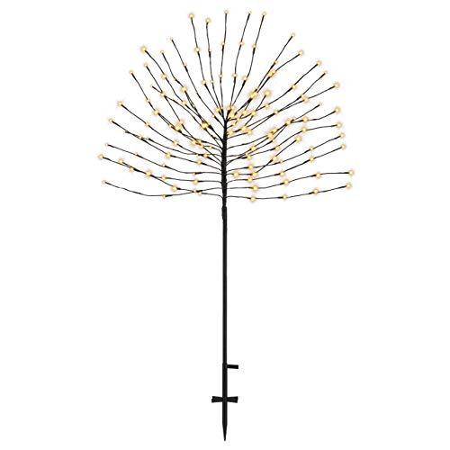 140 LED warm weiß Deko-Baum Lichterbaum Leuchtbaum 150 cm hoch Trafo Timer IP44 Weihnachtsbeleuchtung Weihnachtsdeko Garten-Deko Xmas