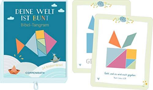 Schachtelspiel - Deine Welt ist bunt: Bibel-Tangram: Bibel-Tangram 24 Bilderrätsel