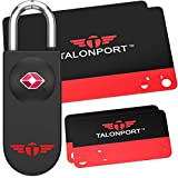 Keyless TSA Approved Luggage Lock with Lifetime Card Keys & No Combo to Forget