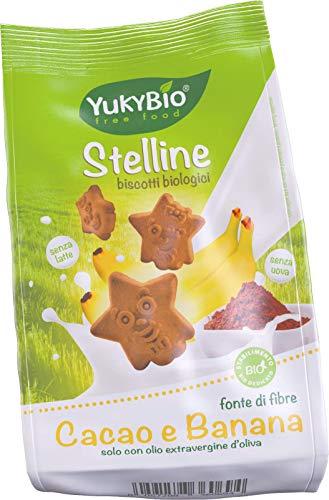 1 x Yukybio Biscotti biologici Stelline con Cacao e Banana 120g