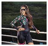LYYJIAJU Ciclismo Skinsuit Suit Abito da donna Triathlon, Jersey da donna a maniche lunghe for donna Bicicletta Asciugatura rapida (Color : Multi-colored, Size : S)