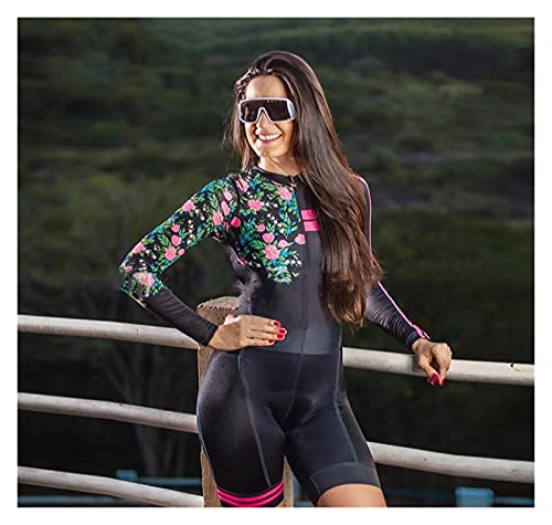 LYYJIAJU Ciclismo Skinsuit Suit Abito da donna Triathlon, Jersey da donna a maniche lunghe for donna Bicicletta Asciugatura rapida (Color : Multi-colored, Size : 3XL)