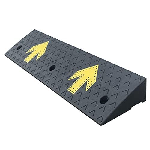 ZALNVEY Rampas de acera livianas portátiles de 100 cm con patrón de Flecha Amarilla, rampa de acera Industrial, guía llamativa, Capacidad de Carga de 18000 LB, Altura 14 cm / 15 cm, Negro