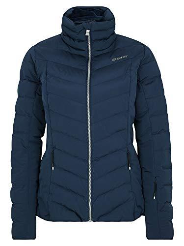 Ziener Damen Talma Ski Winter-Jacke | Warm, Atmungsaktiv, Wasserdicht, Dark Navy, 38