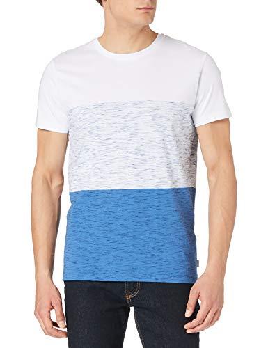 edc by ESPRIT Herren Nachhaltiges Melange T-Shirt, 104/WHITE, XL