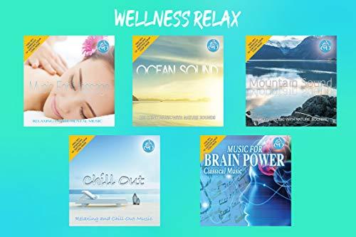 10 CDs Wellness Relax - Entspannungsmusik Meditation Konzentration, Musik für Massage