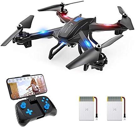 SNAPTAIN S5C Drone con Cámara 1080P HD, Dron WiFi FPV por Control Remoto, Control de Voz, Control de Gestos, Quadcopter Helicóptero con Headless Modo, Altitud Hold, G-Sensor, Modo Órbita, 3D Flip