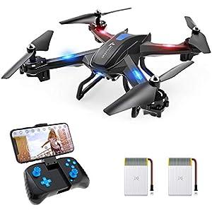 SNAPTAIN S5C Drone con Cámara, 1080P HD, Dron WiFi FPV por Control Remoto, Control de Voz, Control de Gestos, Quadcopter Helicóptero con Headless Modo, Altitud Hold, G-Sensor, Modo Órbita, 3D Flip