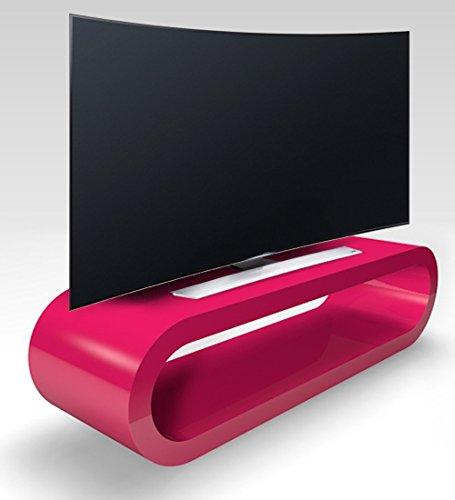 Zespoke Cerceau de Style Rétro Grande Haute Brillance Support Rose TV/Armoire Largeur de 110cm