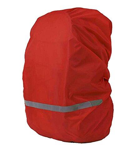 Black Temptation Cas imperméable de Sac à Dos extérieur de Couverture de Pluie réfléchissante pour la randonnée Rouge