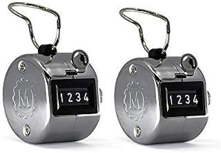 MARATHON CO200001CH 手持镀铬牵引计数器 带指环,适用于运动、仓库、实验室、工厂和办公室。 * 100,000 次点击.