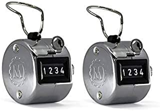 MARATHON CO200001CH Handheld Chrome Tally Counter with Finger Ring for Sports, Warehouse, Laboratories, Factories and Offices. Guaranteed for 100,000 Clicks …