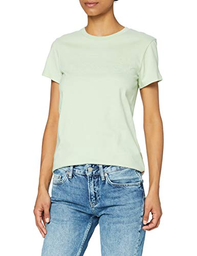 Levi's The Perfect Tee T-Shirt - Femme-Vert/Blanc (Batwing Outline Bok Choy)-M