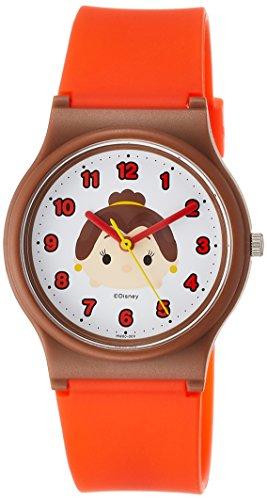 [シチズン Q&Q] 腕時計 ディズニー コレクション TSUMTSUM ベル HW00-009 ガールズ レッド