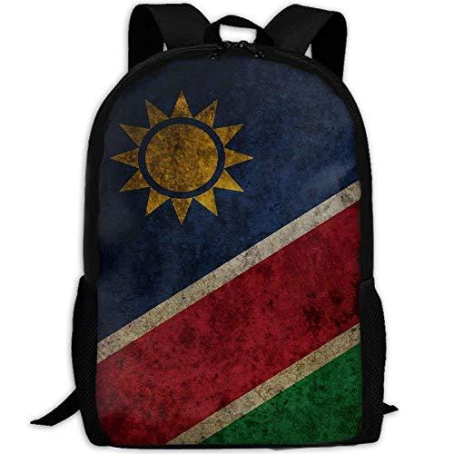 Rucksäcke,Backpack,Alltagsrucksack,Sport Tagesrucksack,Freizeitrucksack,Vintage Namibia Flag Frauen & Männer Langlebige Casual Daypack Für Schule Business Camping Laufen Radfahren Wandern