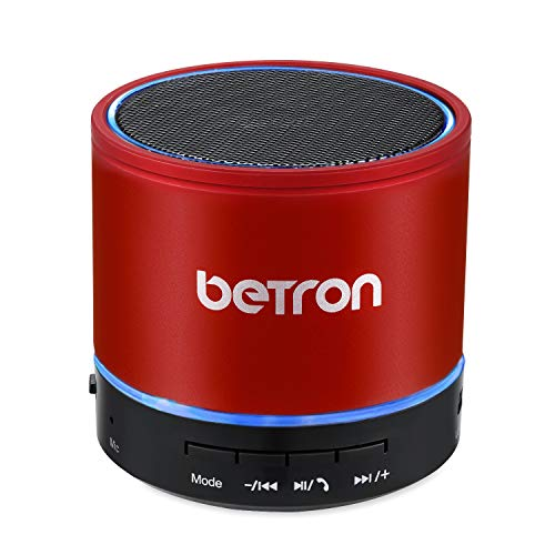 Betron KBS08 Wireless Portable Travel Bluetooth Speaker (Red)