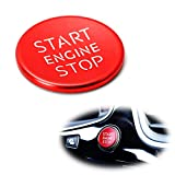 iJDMTOY (1) S-Line RS Style Red Aluminum Keyless Engine Push Start Button Cover Trim Compatible With Audi A4 A5 A7 A8 Q3 Q5 Q7, etc