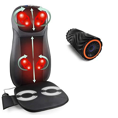 Zyllion Massage Cushion & Vibrating Foam Roller (Black/Orange)