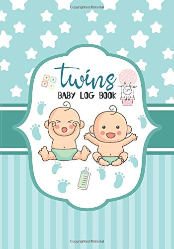 baby log book twins: This Journal is 60 Daily Tracker and Monitor your Newborn Feeding Boy Girl Nann
