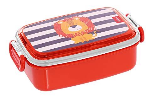 SIGIKID 25089 broodtrommel leeuw OnTour lunchbox BPA-vrij meisjes en jongens lunchbox aanbevolen vanaf 2 jaar rood