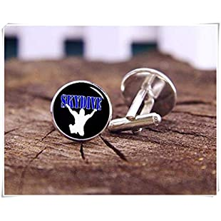 chen jian xin Skydiving Cufflinks, Parachuting Cufflinks, Skydiver Cufflinks
