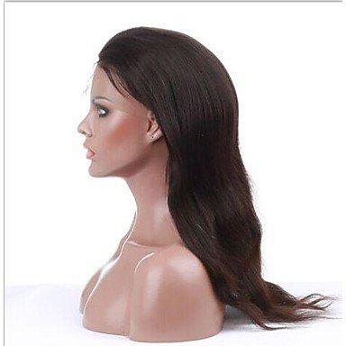 jiayy perruque – Pour Femme – Cheveux Naturel – Noir – droits, 22 inch