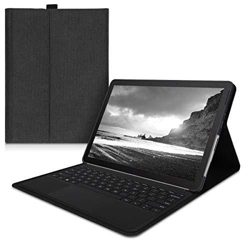 kwmobile Hülle kompatibel mit Microsoft Surface Go 2 - Type Cover kompatibel - Stoff Tablet Cover in Dunkelgrau