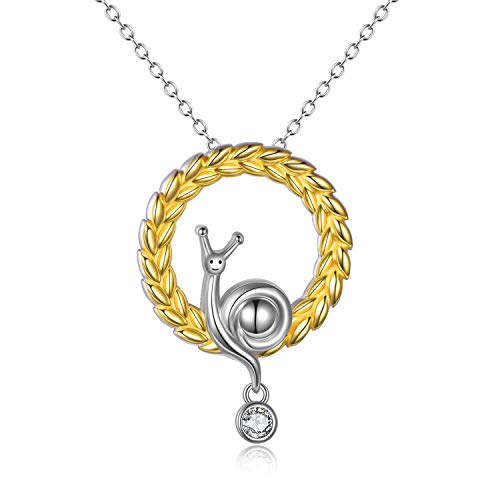 VONALA Snail Jewellry 925 Sterling Silver Snail Necklace Birthday Gifts for Women Girls