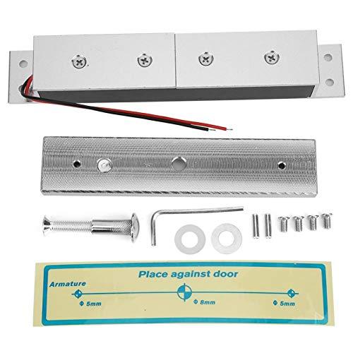 Accesorios de cerradura magnética sin borde oculta de 280 kg/617 lb 12 V para puerta de metal de madera, cerradura magnética de puerta