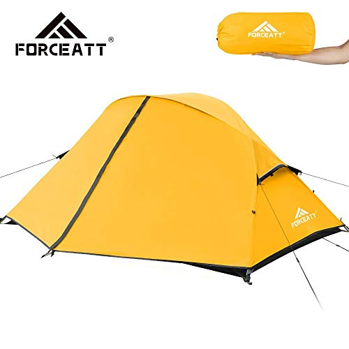 Forceatt Camping Tent 1-2 Person Portable Backpack Tent, Waterproof and Windproof Easy to Install, Suitable for Travel, Camping, Hiking and Other Outdoor Sports