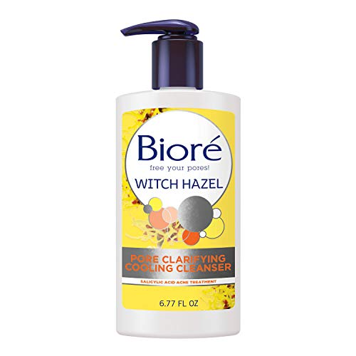 Bioré Witch Hazel Pore Clarifying Acne Face Wash, Exfoliating Facial Cleanser, 2% Salicylic Acid Acne Treatment for Acne Prone, Oily Skin, 6.77 Ounce