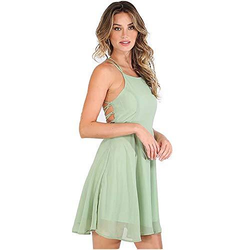 nobrand Mode Kleid Frauen Mini Schwarz Kleid Rundhalsausschnitt Lässig Elegante Langarm Kleid Kurz Partykleid #