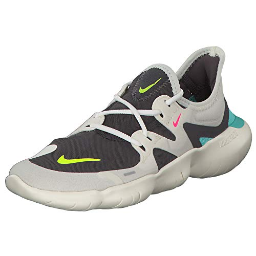 Nike Free RN 5.0 Women's Running Shoe SAIL/Volt-Thunder Grey-Aurora Green 7.5