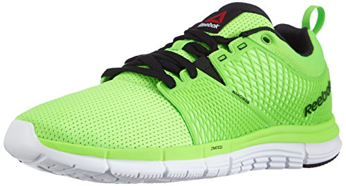 Reebok ZQuick Dash, Herren Laufschuhe, Grün (Solar Green/Black/Wht/Bold Orange), EU 45 (UK 10.5 / US 11.5)