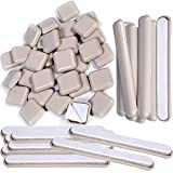Liyic 48 Combo Pack Self-Stick Carpet Gliders for Chair-32PCS 1inch Square Self Adhesive Furniture Glides&16PCS 1/2'X4' Bar Furniture Moving Slider-Slider for Furniture-Carpet Slider-Furniture Slider