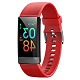 nobrands Smart Watch Fitness Tracker with Heart Rate Blood Pressure Monitoring IP68 Waterproof (red - Click Style)