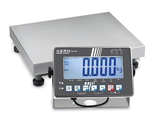 IP Balanza de plataforma protegida [Kern IXS 30K de 2m] Plataforma Báscula con acero inoxidable dispositivo de análisis de IP68, XL de pantalla y escaneado aprobación [M], rango de pesaje [Max]: 15kg/30kg, Lectura [D]: 5g/10g