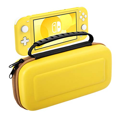 Nintendo Switch Lite ケース ATiC ニンテンドー スイッチライト 収納バッグ スイッチライト キャンセリング ケース 大容量 内部に耐震気泡が内蔵 EVA素材 凸面 耐衝撃 防汚 消臭処 全面保護 小物収納可 任天堂Switch Liteコンソール /付属品 /20枚ゲームカード収納 軽量 持ち運び便利 Yellow