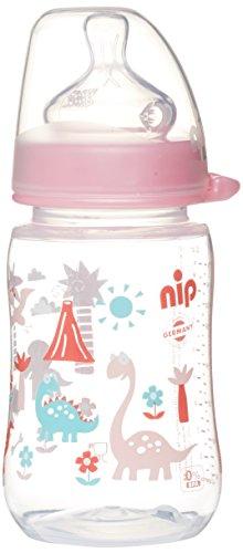 nip Weithalsflasche PP mit Weithalssauger Anatomisch Silikon, Einheitsgröße 0+, M, 260 ml, Girl Zirkus
