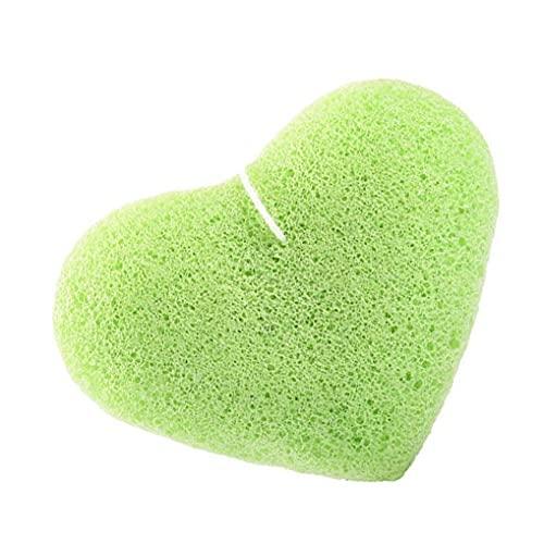 Eponge exfoliante faciale Konjac Sponge naturelle Peau nettoyage profonde éponge vert vert