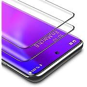 BANNIO für Panzerglas für Samsung Galaxy S20 Ultra,2 Stück 3D Full Screen Panzerglasfolie Schutzfolie für Samsung Galaxy S20 Ultra,9H Härte Displayschutzfolie,Blasenfrei,Schwarz