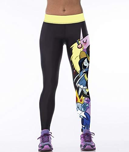 YJKGPZQLZ Yoga Leggings Impresión Leggings De Mujer con Estampado 3D Legging De Cintura Alta Estilo De Dibujos Animados Pantalones De Mujer Impresos Leggins De Fitness Delgados