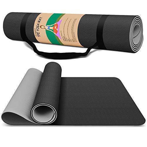 Yoga Mat Exercise Fitness Mat For Men- High Density Non-Slip Workout Mat for Yoga, Pilates & Exercises, Anti - Tear,...
