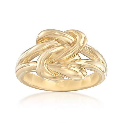 Ross-Simons 14kt Yellow Gold Double Love Knot Ring