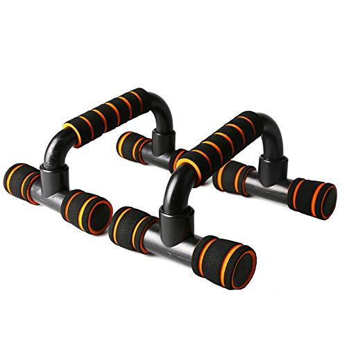 Push up bars fitnessapparatuur, met verwisselbare beugel handvat non-slip saldoontwerp, Trainen borstspieren en armspieren Zeer geschikt voor zowel mannen als vrouwen Strength Workouts,Black plus yellow
